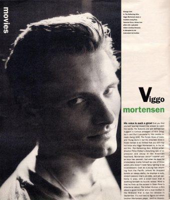 Viggo Mortensen in Interview magazine, June 2006