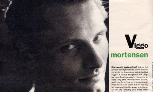 Viggo Mortensen in Interview magazine, June 2006