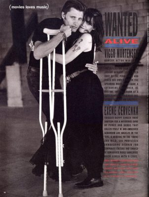 Viggo Mortensen & Exene Cervenka - Interview mag Feb 1992