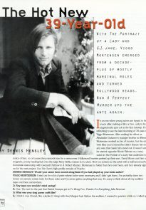 Viggo Mortensen in Movieline Aug 1998, Paula Symonds photo