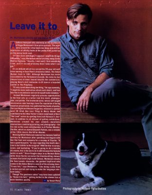 Viggo Mortensen in Black Book, winter 1998-99