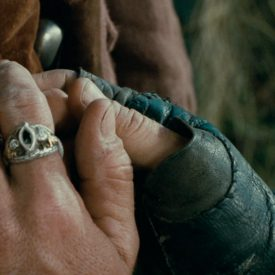 Aragorn (Viggo Mortensen) reassures Frodo in The Fellowship of the RIng