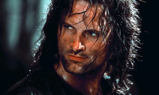 Aragorn (Viggo Mortensen) faces the Nazgul in The Fellowship of the RIng