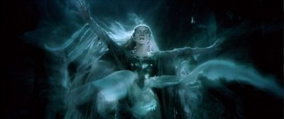 Cate Blanchett as Galadriel confronted with ring in Fellowship