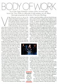 article about Viggo Mortensen in Elle, Dec. 2001
