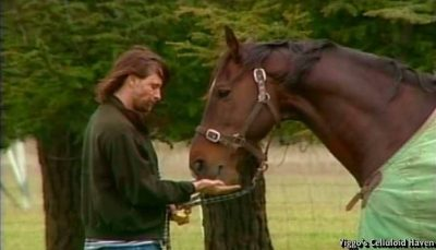 Viggo Mortensen & Uraeus in pasture