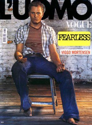 Viggo Mortensen in L'uomo Vogue April 2004 cover