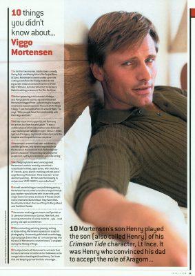 Viggo Mortensen - Total Film May 2004
