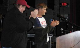 Michael Moore & Viggo Mortensen, Columbus OH 30-Oct-2004