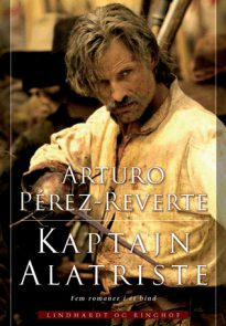 Viggo Mortensen as Alatriste book cover (Denmark)