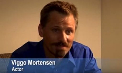 screenshot video interview with Viggo Mortensen