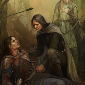 The Death of Boromir by Julia Alex (Julaxart@DeviantArt)