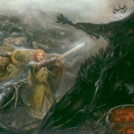 Eowyn and the Nazgul by Matthew Stewart