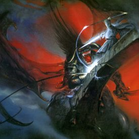 Gandalf and the Balrog by John Howe