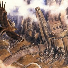 Gandalf Escapes on Gwaihir by Alan Lee