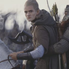Legolas & Gimli riding Arod in The Return of the King