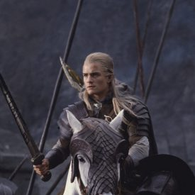 Orlando Bloom as Legolas on Arod in The Two Towers