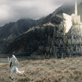 Gandalf & Shadowfax gallop to Minas Tirith in The Return of the King