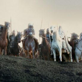 Gandalf & Shadowfax with the Rohirrim come to the aid of Helm's Deep in The Two Towers