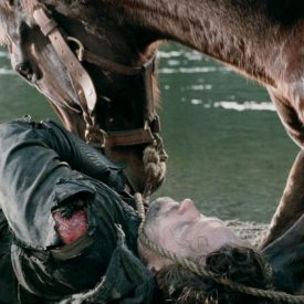 Viggo Mortensen and Uraeus as Brego in The Return of the King: The Two Towers