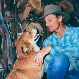 Viggo Mortensen with dog, by Terry Richardson (i-D 2003)
