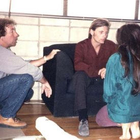 Viggo Mortensen & Anzu Lawson with director Frank Capella in American Yakuza