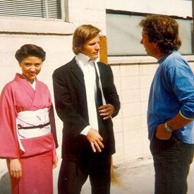 Anzu Lawson & Viggo Mortensen with director Frank Capella in American Yakuza