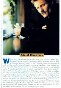 Viggo Mortensen in Movieline Nov 96, photo by Greg Henry