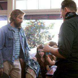 VIggo Mortensen & Matt Ross BTS in Captain Fantastic