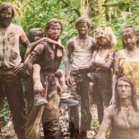 Viggo Mortensen & cast mud-coated for Captain Fantastic