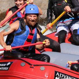 Viggo Mortensen takes a break from filming Captain Fantastic