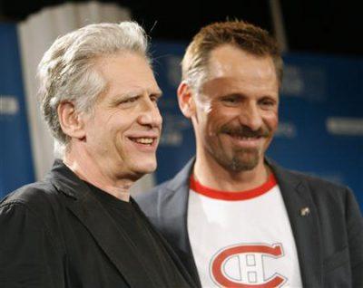 Viggo Mortensen & David Cronenberg at Toronto 2007. Reuters photo by Mario Anzuoni.