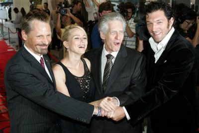 Mortensen, Watts, Cronenberg, Cassel at Toronto Film Festival 2007. Reuters photo.